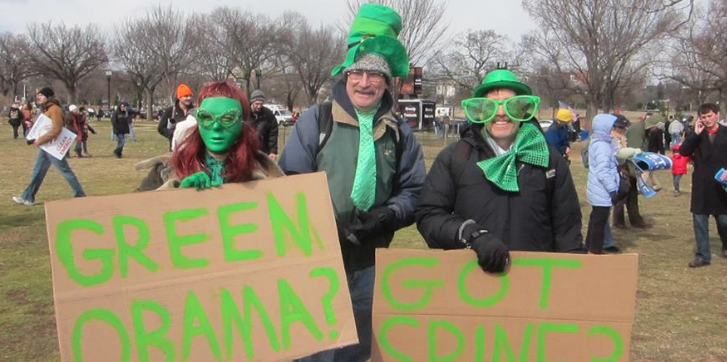 Green Obama? Got Spine?