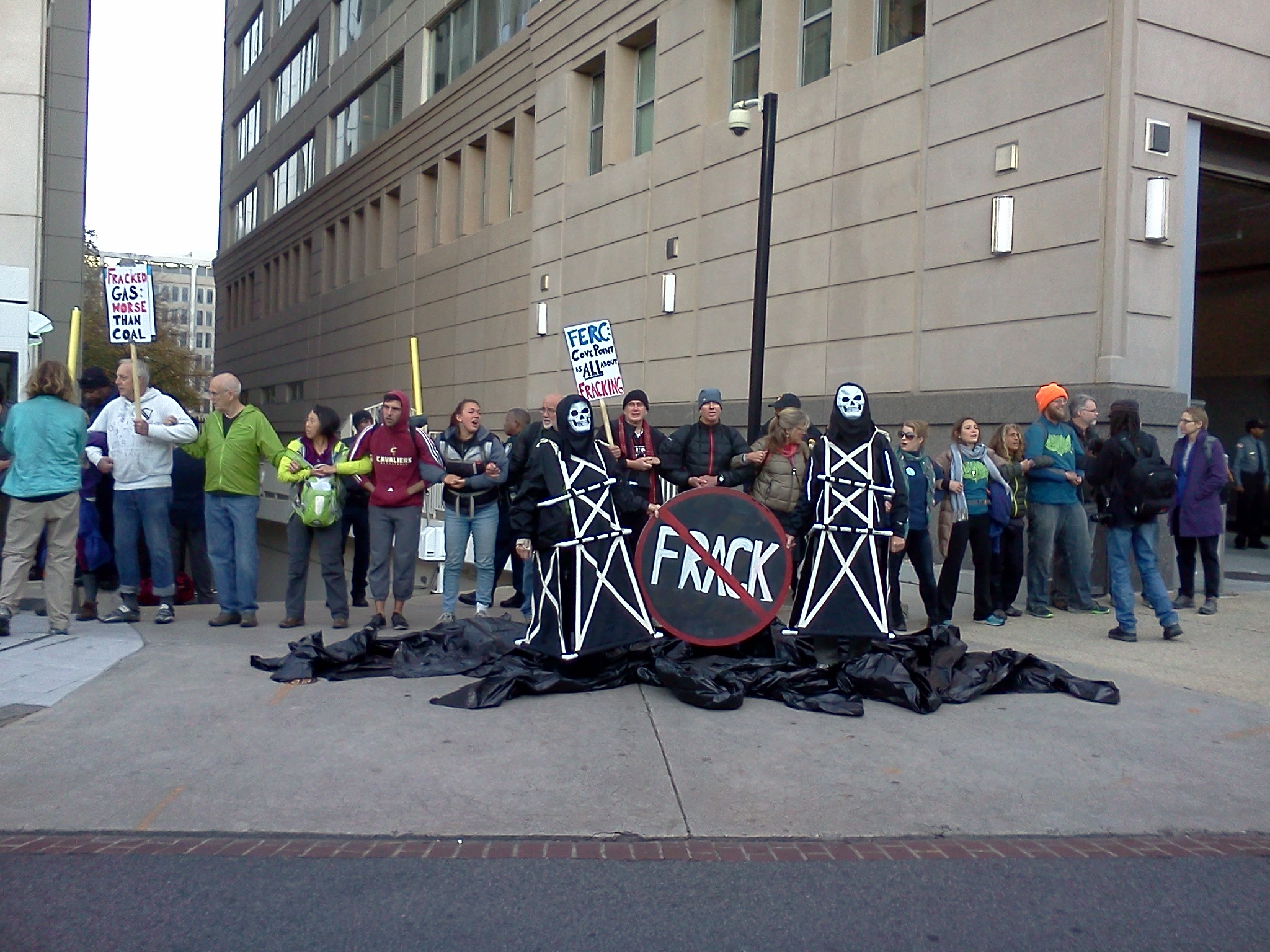 towers oil spill blockade FERC