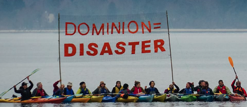 Save Cove Point! Dump Dominion! Kayaktivism came to Lusby, MD. March 2016